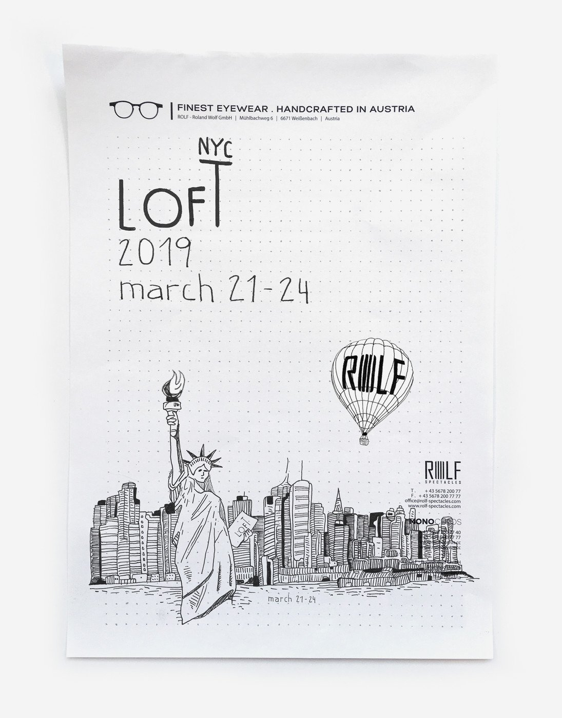 d32cb8ddf77 ROLF Spectacles moves from Tyrol to New York! LOFT NYC - USA March 21 - 24    Hudson Mercantile 500 W 36th St ...