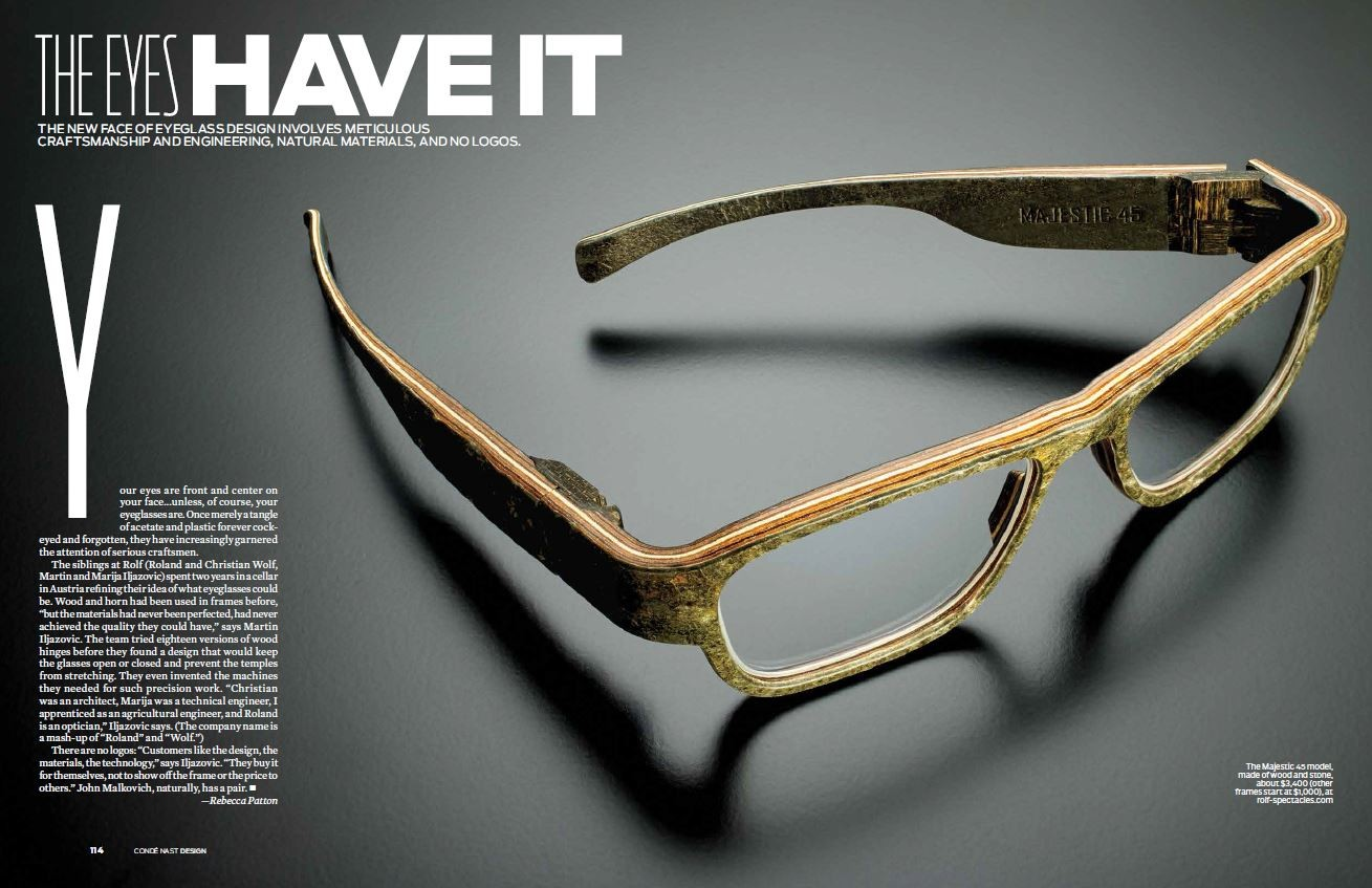 ROLF Spectacles - Majestic 45 im Condé Nast Traveler